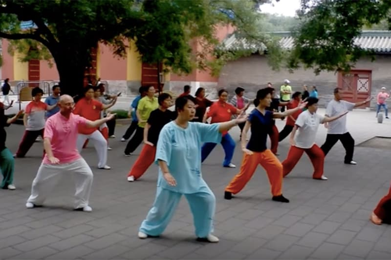 Group Practising 8-Step Tai Chi